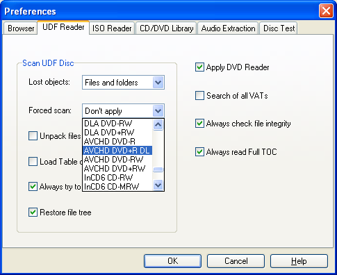 DVD Video recovery - Options