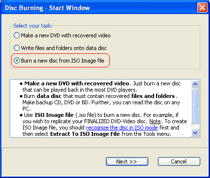 Make a new DVD-Video from ISO Image File